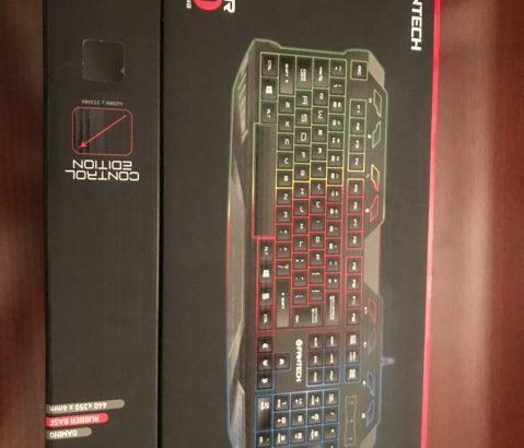 150.000 L.L fantech keyboard +fantech mouse pad (new+very clean)