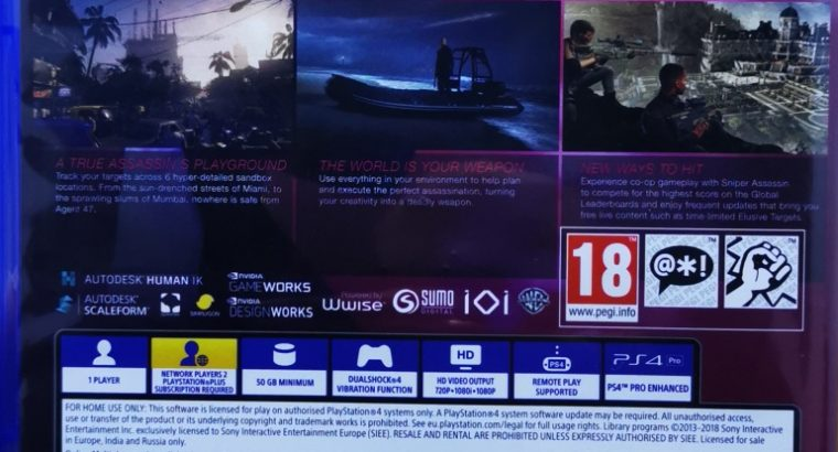 PS4 – Hitman II – Like new