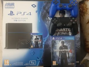 PS4 1TB Fat  with 2 original joysticks and power cable + hdmi cable + usb cablegood condition