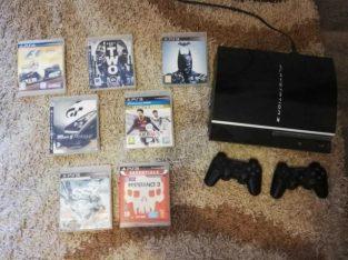 PS3+DISCS AND JOYSTICKS (2)