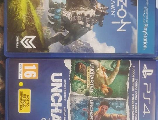 2 PS4 games for sale, used only once