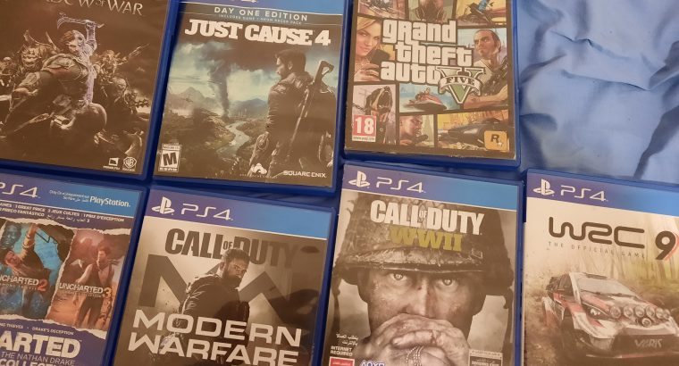 7 ps4 games for 100$
