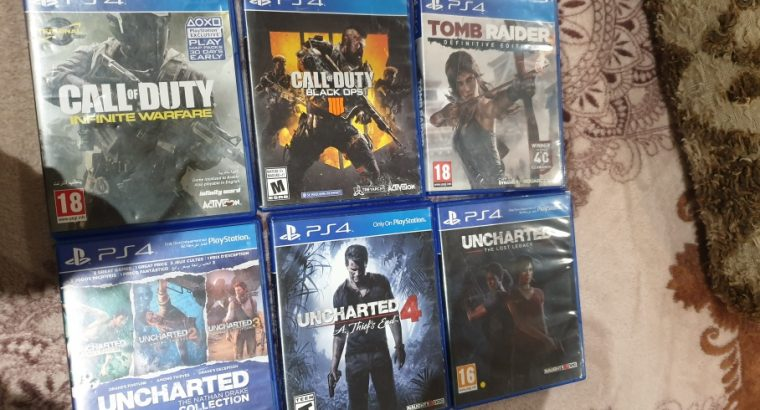 ps4 games 6 games used like new