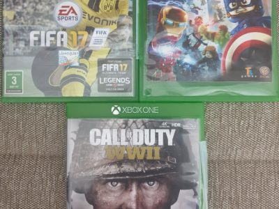 xbox one +kinect+2 controllers+4 games