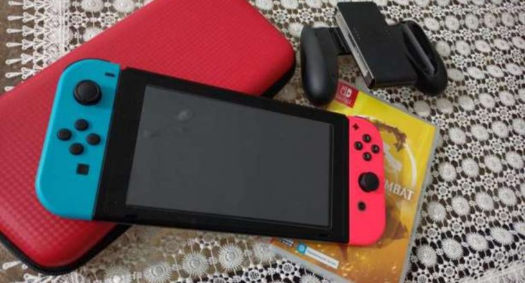 Nintendo Switch Extended Battery + Screen Protection + Carry Bag + MK11 Cartridge