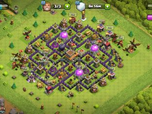 Cash of clans Town hall 8 💥