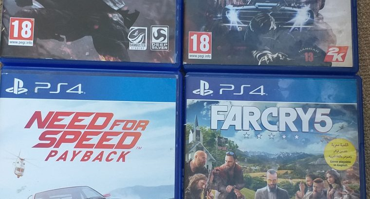 4 CD's Games for only 40$