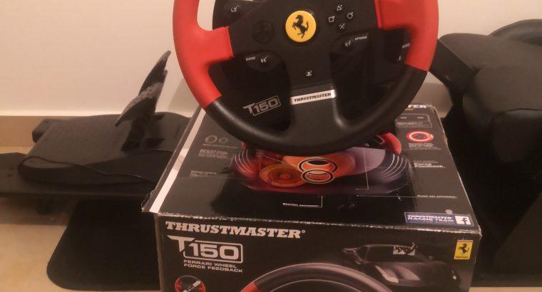 Ps4 pro 1 tb  +original joystick + playseat + original thrustmaster ferrari steering wheel + 9 disks