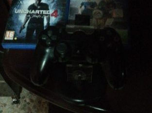 ps4 slim 500gb with one controller and gta5 pubg uncharted4 fifa16