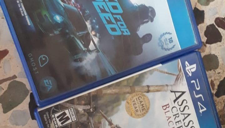 ps4 assasins creed black flag + need for speed 2016 for sale (2 for 200.000L.L)