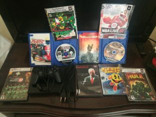 Ps2 Slim working (good condition) with games and controllers